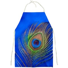 Blue Peacock Feather Full Print Aprons by Amaryn4rt