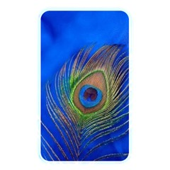 Blue Peacock Feather Memory Card Reader