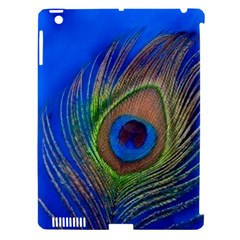 Blue Peacock Feather Apple Ipad 3/4 Hardshell Case (compatible With Smart Cover) by Amaryn4rt