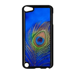 Blue Peacock Feather Apple Ipod Touch 5 Case (black)
