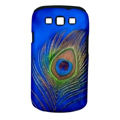 Blue Peacock Feather Samsung Galaxy S Iii Classic Hardshell Case (pc+silicone) by Amaryn4rt