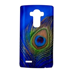 Blue Peacock Feather Lg G4 Hardshell Case by Amaryn4rt