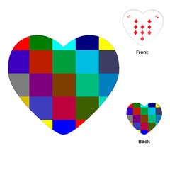 Chessboard Multicolored Playing Cards (heart)  by Jojostore