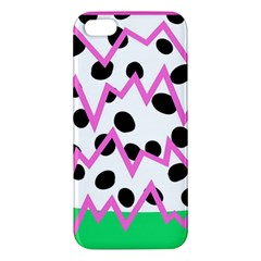 Wave Chevron Circle Purple Green White Black Apple Iphone 5 Premium Hardshell Case
