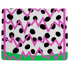 Wave Chevron Circle Purple Green White Black Jigsaw Puzzle Photo Stand (rectangular) by Jojostore