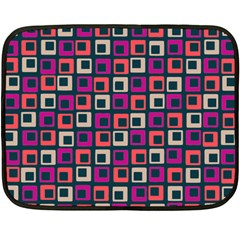 Abstract Squares Double Sided Fleece Blanket (mini)