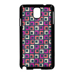 Abstract Squares Samsung Galaxy Note 3 Neo Hardshell Case (black) by Jojostore