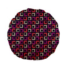 Abstract Squares Standard 15  Premium Flano Round Cushions