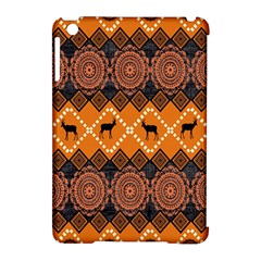 African Pattern Deer Orange Apple Ipad Mini Hardshell Case (compatible With Smart Cover) by Jojostore