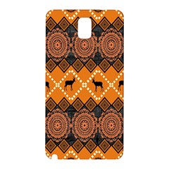 African Pattern Deer Orange Samsung Galaxy Note 3 N9005 Hardshell Back Case by Jojostore