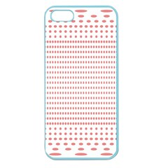 Dalmatian Red Circle Apple Seamless Iphone 5 Case (color) by Jojostore