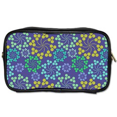 Color Variationssparkles Pattern Floral Flower Purple Toiletries Bags 2 Side by Jojostore