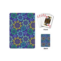 Color Variationssparkles Pattern Floral Flower Purple Playing Cards (mini)  by Jojostore