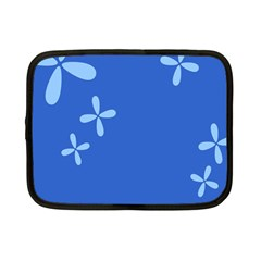 Flower Floral Blue Netbook Case (small)