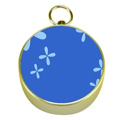 Flower Floral Blue Gold Compasses by Jojostore