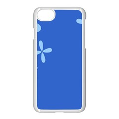 Flower Floral Blue Apple Iphone 7 Seamless Case (white) by Jojostore