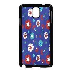 Flower Floral Flowering Leaf Blue Red Green Samsung Galaxy Note 3 Neo Hardshell Case (black) by Jojostore