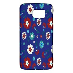 Flower Floral Flowering Leaf Blue Red Green Galaxy S6