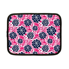Flower Floral Rose Purple Pink Leaf Netbook Case (small)