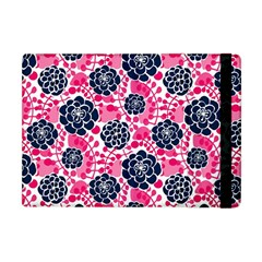 Flower Floral Rose Purple Pink Leaf Apple Ipad Mini Flip Case
