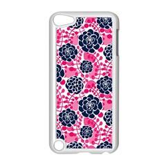 Flower Floral Rose Purple Pink Leaf Apple Ipod Touch 5 Case (white) by Jojostore