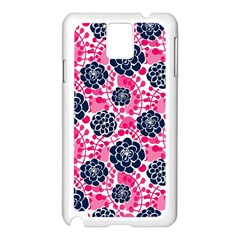 Flower Floral Rose Purple Pink Leaf Samsung Galaxy Note 3 N9005 Case (white) by Jojostore