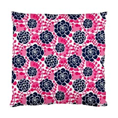 Flower Floral Rose Purple Pink Leaf Standard Cushion Case (two Sides)