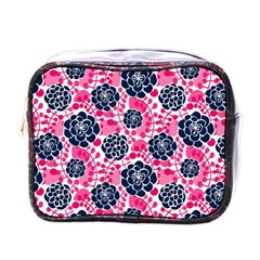 Flower Floral Rose Purple Pink Leaf Mini Toiletries Bags