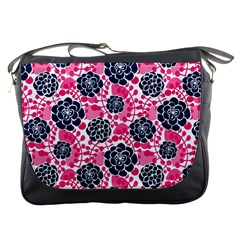 Flower Floral Rose Purple Pink Leaf Messenger Bags