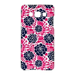 Flower Floral Rose Purple Pink Leaf Samsung Galaxy A5 Hardshell Case  by Jojostore