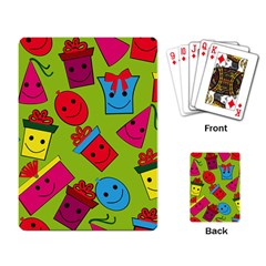Happy Birthday Background Playing Card