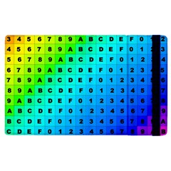 Letters Numbers Color Green Pink Purple Apple Ipad 2 Flip Case