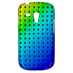 Letters Numbers Color Green Pink Purple Galaxy S3 Mini by Jojostore