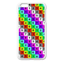 Mapping Grid Number Color Apple Iphone 6 Plus/6s Plus Enamel White Case by Jojostore