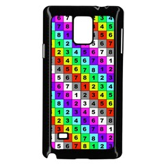 Mapping Grid Number Color Samsung Galaxy Note 4 Case (black)