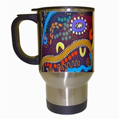 Mbantua Aboriginal Art Gallery Cultural Museum Australia Travel Mugs (white) by Jojostore