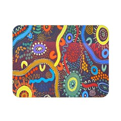 Mbantua Aboriginal Art Gallery Cultural Museum Australia Double Sided Flano Blanket (mini)  by Jojostore