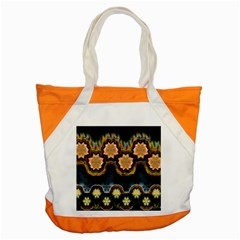 Ornate Floral Textile Accent Tote Bag