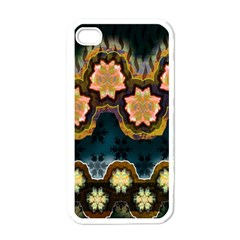 Ornate Floral Textile Apple Iphone 4 Case (white) by Jojostore