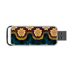 Ornate Floral Textile Portable Usb Flash (two Sides) by Jojostore