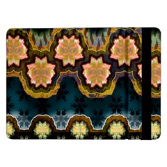 Ornate Floral Textile Samsung Galaxy Tab Pro 12 2  Flip Case by Jojostore