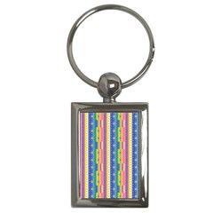 Psychedelic Carpet Key Chains (rectangle)  by Jojostore