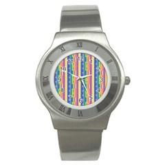 Psychedelic Carpet Stainless Steel Watch by Jojostore