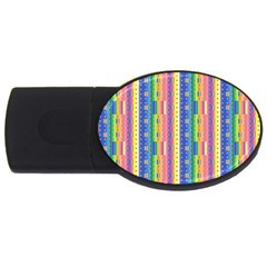 Psychedelic Carpet Usb Flash Drive Oval (4 Gb) by Jojostore