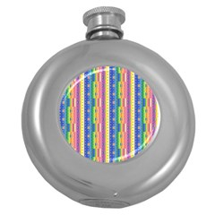 Psychedelic Carpet Round Hip Flask (5 Oz) by Jojostore