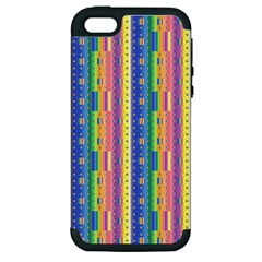 Psychedelic Carpet Apple Iphone 5 Hardshell Case (pc+silicone) by Jojostore
