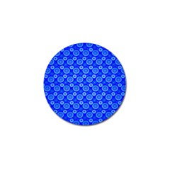 Neon Circles Vector Seamles Blue Golf Ball Marker