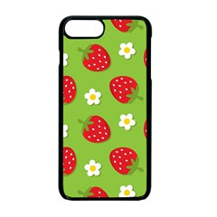 Strawberries Flower Floral Red Green Apple Iphone 7 Plus Seamless Case (black) by Jojostore
