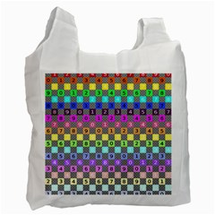 Test Number Color Rainbow Recycle Bag (one Side) by Jojostore