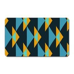 Yellow Blue Triangles Pattern                                                        			magnet (rectangular) by LalyLauraFLM
